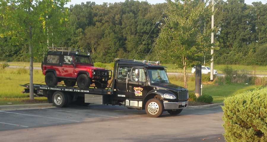 Gentry Towing and Recovery Trucks in Action